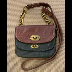 Fossil green/brown crossbody